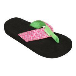 Women's Tidewater Sandals Pink Buoy Flip Flop Pink/Green