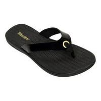 Women's Tidewater Sandals Portland Ultra Black Thong Sandal Black
