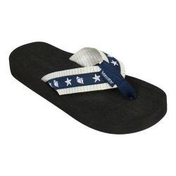 Women's Tidewater Sandals Shelltastic Navy Flip Flop Navy/White