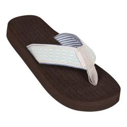 Women's Tidewater Sandals White Whales Flip Flop Blue/Gray/White