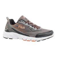 Men's Fila Fila Forward 2 Running Shoe Dark Silver/Black/Red Orange