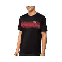 Men's Fila Core Tennis Printed Crew Black/Chinese Red/White