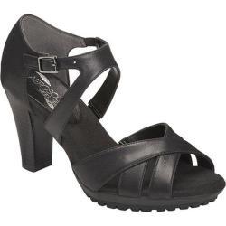 Women's Aerosoles Advantage Sandal Black Faux Leather