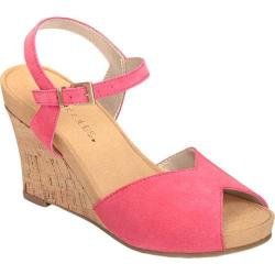Women's Aerosoles Bloom Plush Wedge Sandal Pink Suede