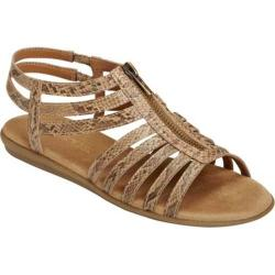 Women's Aerosoles Chlothesline Tan Snake Faux Leather