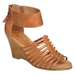 Women's Aerosoles Los Vegas Wedge Sandal Tan Leather