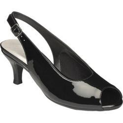Women's Aerosoles Escapade Slingback Black Faux Patent Leather