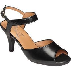 Women's Aerosoles Gridlux Sandal Black Leather