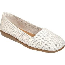 Women's Aerosoles Mr Softee White Perfed Leather