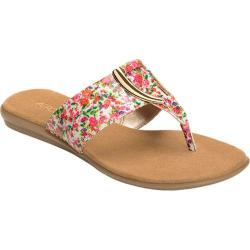 Women's Aerosoles Nice Save Thong Sandal Pink Floral Faux Leather