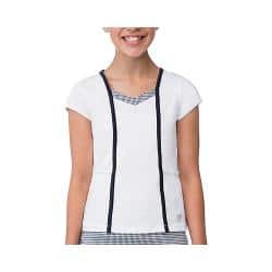 Girls' Fila Gingham Cap Sleeve Top White/Peacoat Gingham/Peacoat|https://ak1.ostkcdn.com/images/products/104/687/P18645172.jpg?impolicy=medium