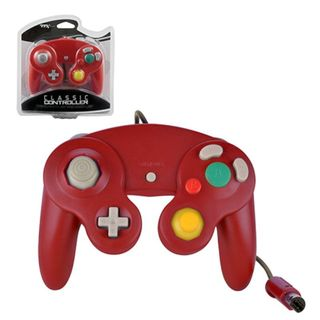 TTX Tech Red Wired Controller For Nintendo GameCube System