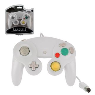 TTX Tech White Wired Controller For Nintendo GameCube System