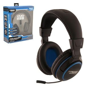 KMD Black Large Wired Professional Gaming Headset With Microphone For Sony Playstation PS 4
