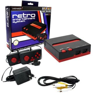 Retro-Bit Black/ Red Top Loader 8-bit Console For Nintendo Entertainment System