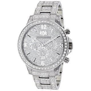 Luxurman Men's Liberty 3ct TDW Diamond Watch