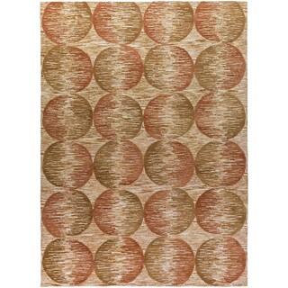Hand-Tufted Bacup Polka Dots Viscose Rug (8' x 11')