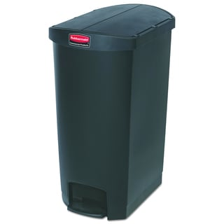 Slim Jim Resin End Step Style 18 gal Black Step-On Container