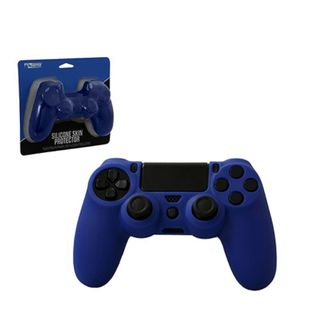 KMD Blue Silicone Grip Case Protector Cover For For Sony PS 4 Controller