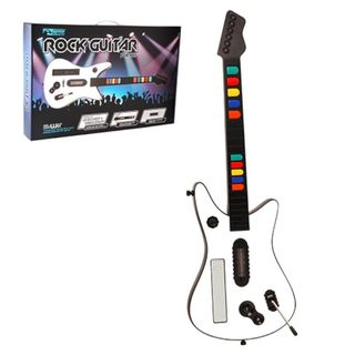 KMD White Wireless Fret Guitar Controller For Nintendo Wii