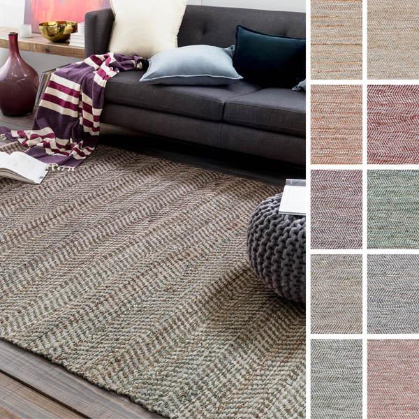 Hand-Woven Aylsham Stripe Indoor Jute Area Rug - 8' x 10'