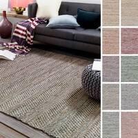Hand-Woven Aylsham Stripe Indoor Jute Area Rug (8' x 10')