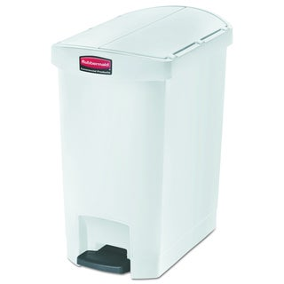 Slim Jim Resin End Step Style 8 gal White Step-On Container