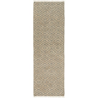 Hand-Woven Chatham Indigo Jute Rug (2'6 x 8')
