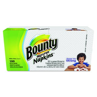 Bounty White Quilted Napkins (Pack of 100)