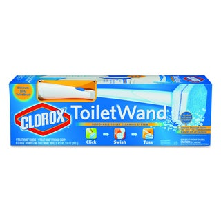 Clorox White Toilet Wand Disposable Toilet Cleaning Kit