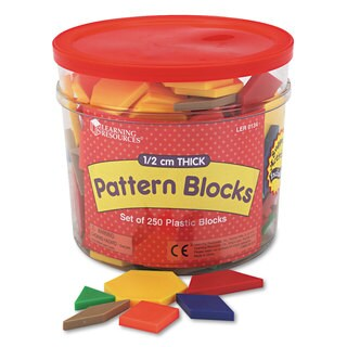 Learning Resources Pattern Blocks (Set of 250)
