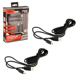 KMD 9-feet Twin Pack Charging Cable For Sony Playstation PS 3 Controller