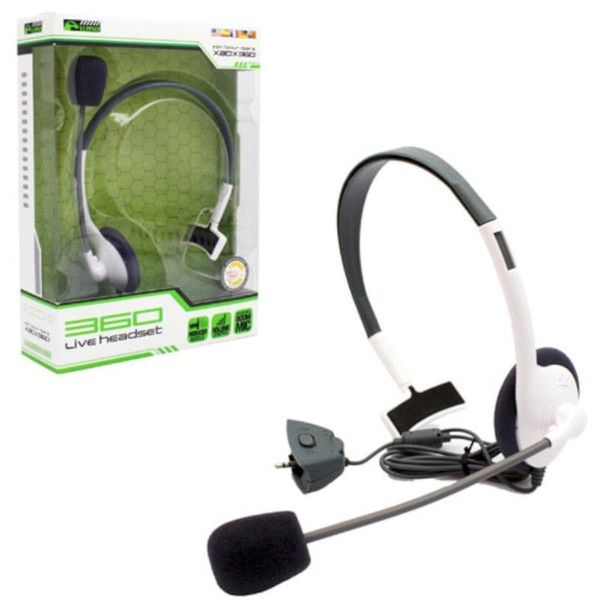 KMD White Small Live Chat Headset With microphone For Microsoft Xbox 360 -  2122033