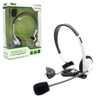 KMD White Small Live Chat Headset With microphone For Microsoft Xbox 360