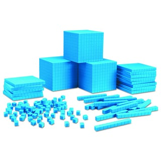 Learning Resources Blue Plastic Base Ten Class Set