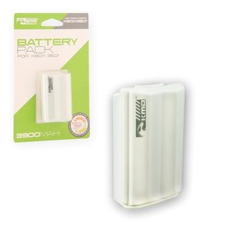KMD White 3900 mAh Rechargeable Battery For Microsoft Xbox 360