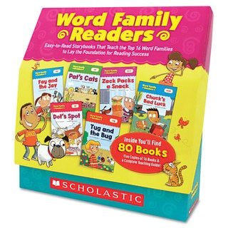 Scholastic Word Family Readers Set Word Family Readers Set 80 Books/16 Pages and Teaching Guide for Grades K-2