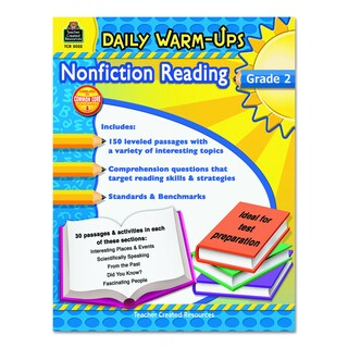 Teacher Created Resources Grade 2 Nonfiction Reading Daily Warm-ups 176 pages