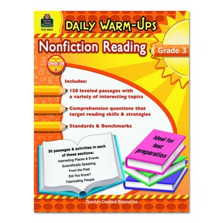 Teacher Created Resources Grade 3 Nonfiction Reading Daily Warm-ups 176 pages