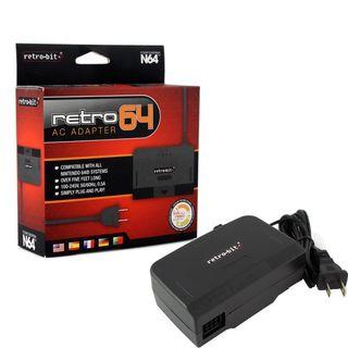 Retro-Bit 5-feet AC Power Supply Adapter For Nintendo 64