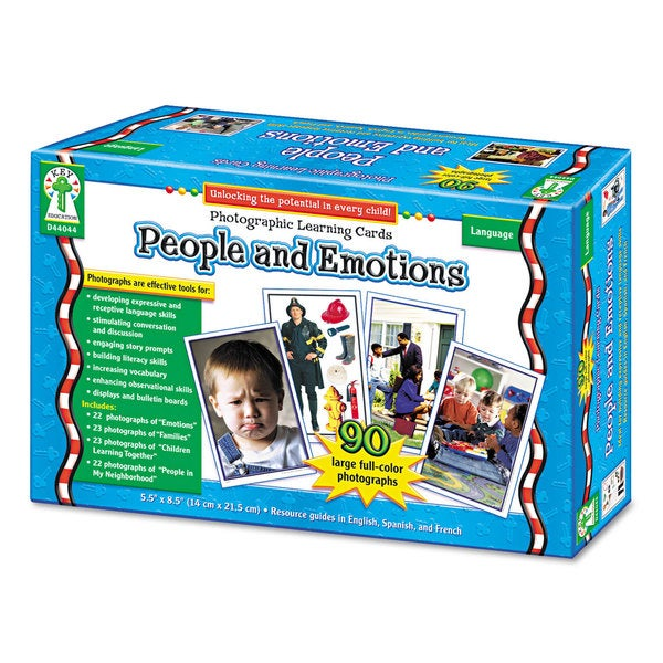 Carson-Dellosa Publishing People and Emotions Photographic Learning Cards Boxed Set