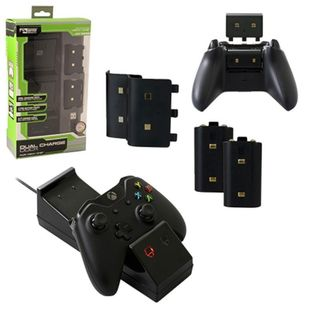 KMD Black Dual Charging Dock For Microsoft Xbox One Console
