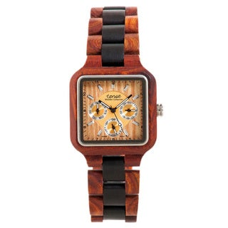 Tense B7305RD Men's 'Summit' Rosewood/ Sandalwood Watch
