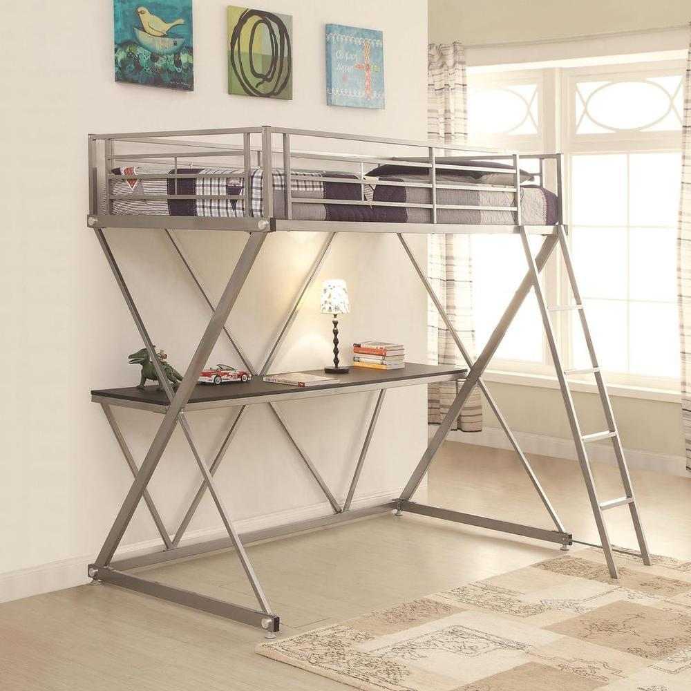 Markus Todd Bunk Bed (Markus Todd Twin Bunk Bed), Silver