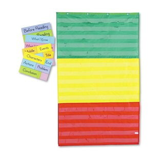 Carson-Dellosa Publishing 36 x 60 Adjustable Tri-Section Pocket Chart