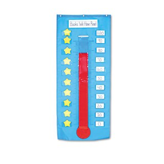 Carson-Dellosa Publishing 21 x 48 1/2 Thermometer/Goal Gauge Pocket Chart
