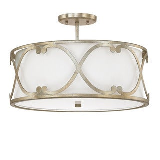 Capital Lighting Donny Osmond Alexander Collection 3-light Winter Gold Semi-flushmount