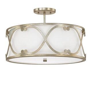 Capital Lighting Donny Osmond Alexander Collection 3-light Winter Gold Semi-flushmount