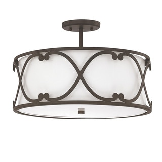 Capital Lighting Donny Osmond Alexander Collection 3-light Burnished Bronze Semi-flushmount
