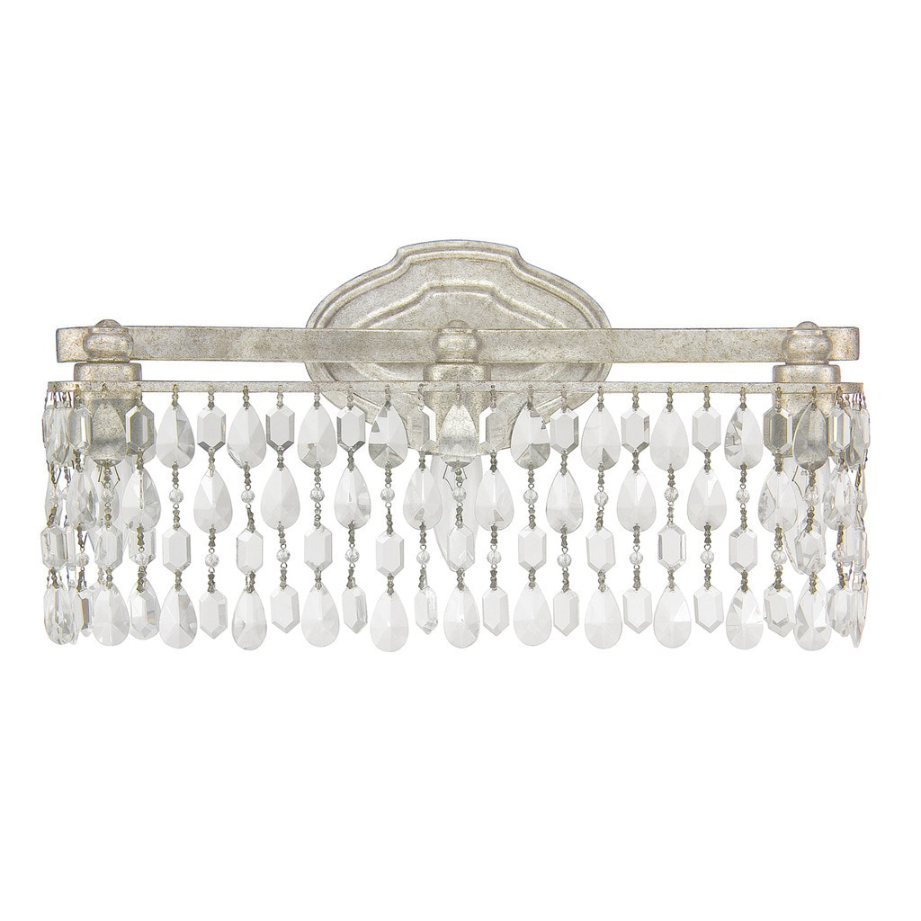 Traditional 3 Light Antique Silver Bath Vanity Light Antique Silver Overstock 10400303